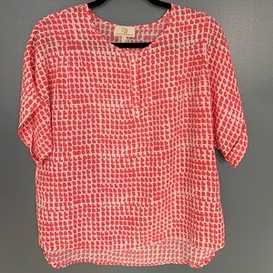 Collective Concepts Blouse Pink & White Size 22